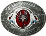 Sorpion Belt Buckle + display stand. Code TN6